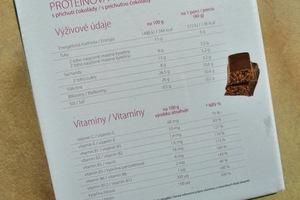 ketomix proteinové tyčinky výživové údaje