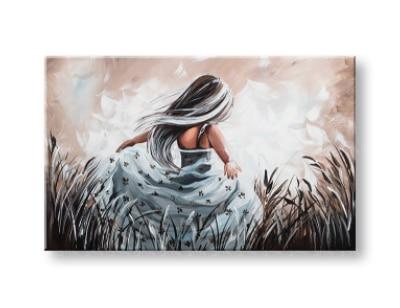 malovaný obraz na stěnu dívka