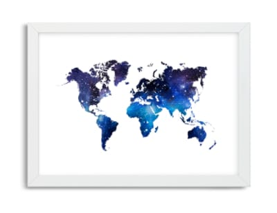 Obraz do studentského pokoje světová mapa galaxie