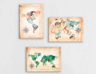 Obrazy do studentského pokoje kontinenty